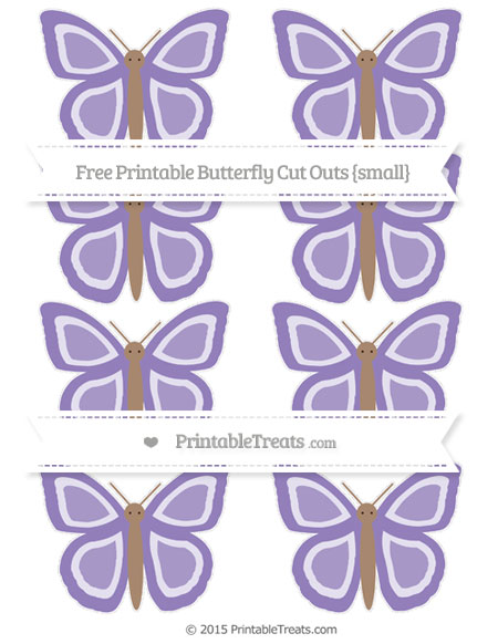 Free Pastel Dark Plum Small Butterfly Cut Outs