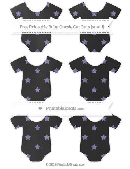 Free Pastel Dark Plum Star Pattern Chalk Style Small Baby Onesie Cut Outs