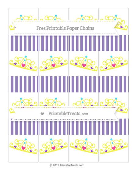 Free Pastel Dark Plum Thin Striped Pattern Princess Tiara Paper Chains