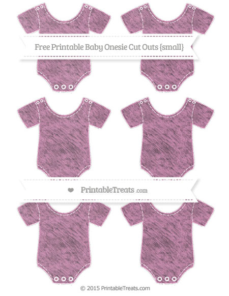Free Pastel Fuchsia Chalk Style Small Baby Onesie Cut Outs