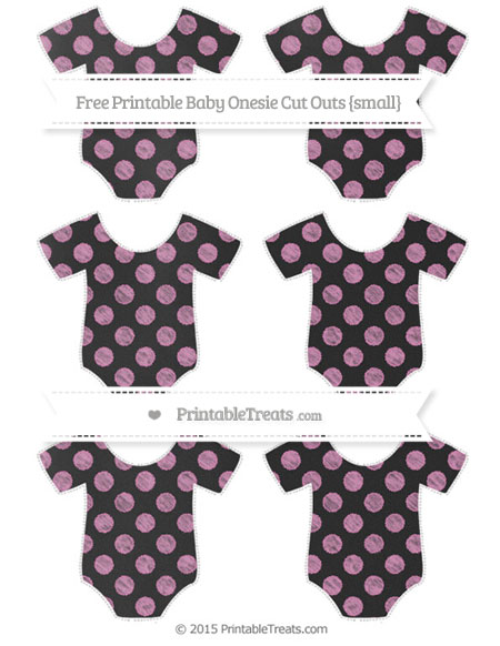 Free Pastel Fuchsia Dotted Pattern Chalk Style Small Baby Onesie Cut Outs