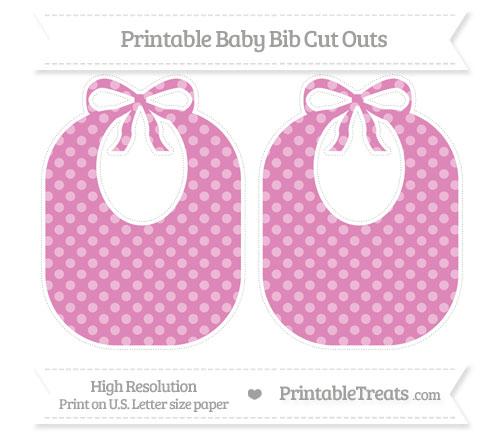 Free Pastel Fuchsia Dotted Pattern Large Baby Bib Cut Outs