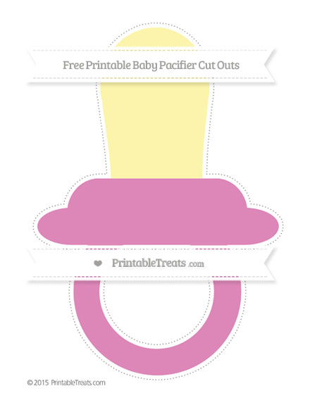 Free Pastel Fuchsia Extra Large Baby Pacifier Cut Outs