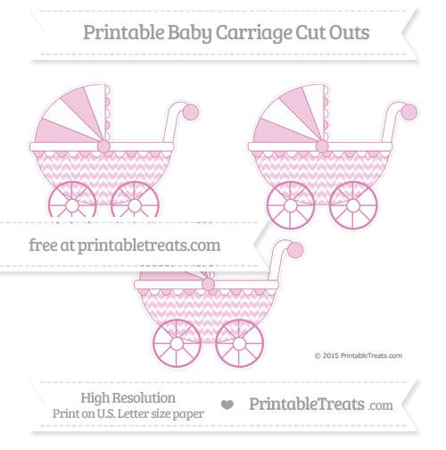 Free Pastel Fuchsia Herringbone Pattern Medium Baby Carriage Cut Outs