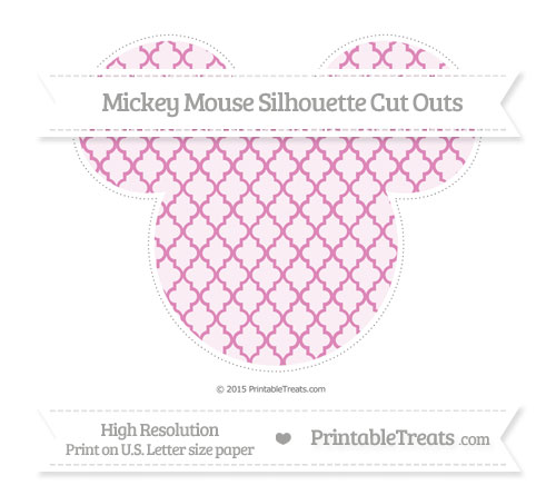 Free Pastel Fuchsia Moroccan Tile Extra Large Mickey Mouse Silhouette Cut Outs