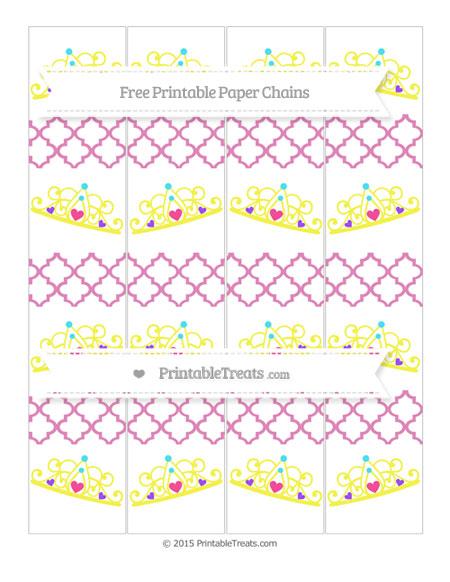 Free Pastel Fuchsia Moroccan Tile Princess Tiara Paper Chains