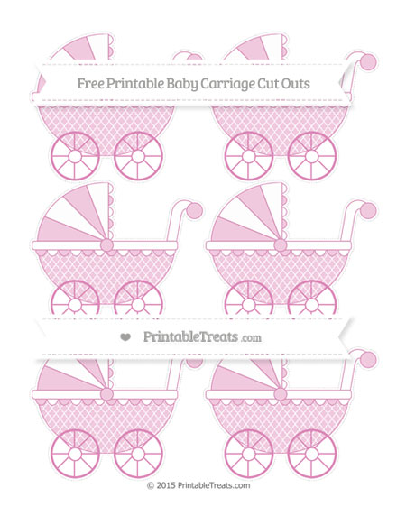 Free Pastel Fuchsia Moroccan Tile Small Baby Carriage Cut Outs