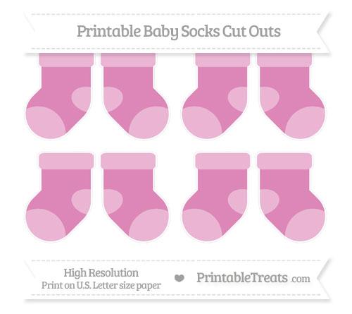 Free Pastel Fuchsia Small Baby Socks Cut Outs