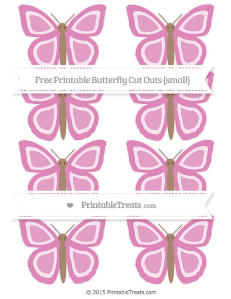 Free Pastel Fuchsia Small Butterfly Cut Outs