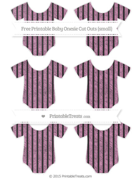 Free Pastel Fuchsia Thin Striped Pattern Chalk Style Small Baby Onesie Cut Outs