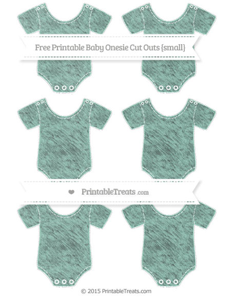 Free Pastel Green Chalk Style Small Baby Onesie Cut Outs