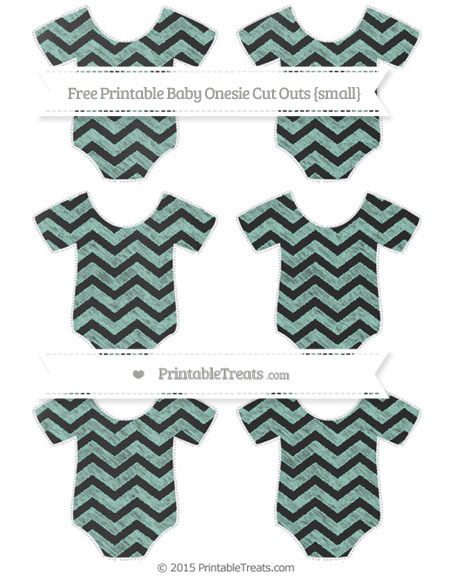Free Pastel Green Chevron Chalk Style Small Baby Onesie Cut Outs