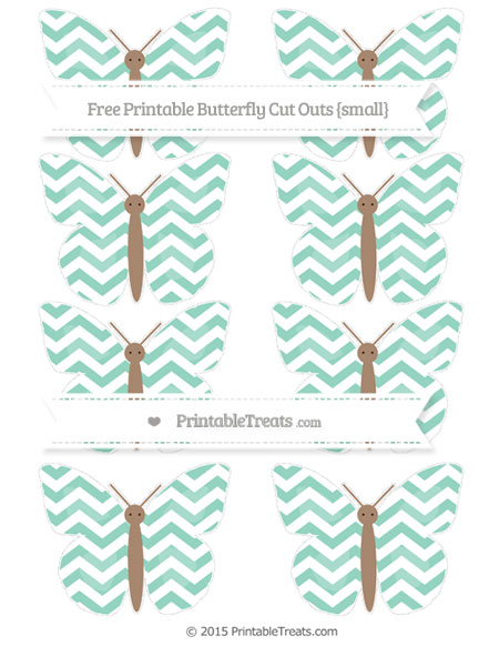 Free Pastel Green Chevron Small Butterfly Cut Outs
