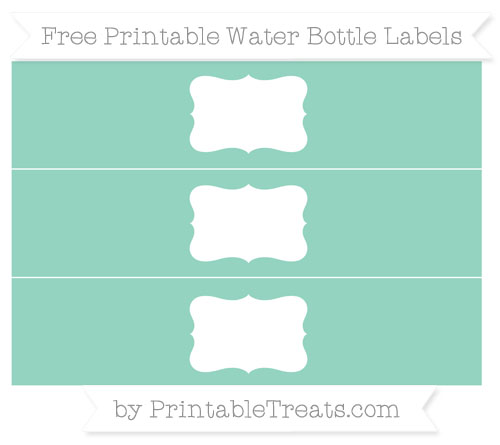 Free Pastel Green Water Bottle Labels