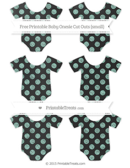 Free Pastel Green Dotted Pattern Chalk Style Small Baby Onesie Cut Outs