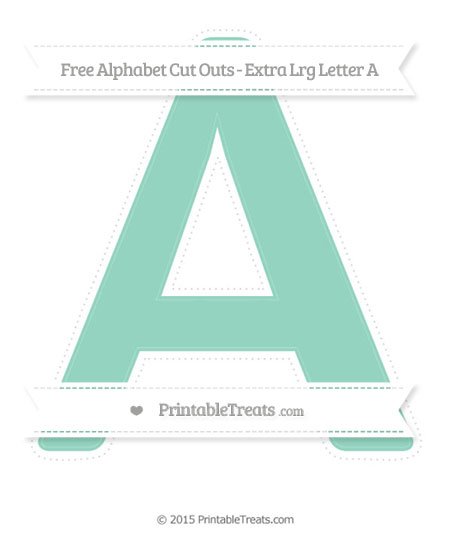 Free Pastel Green Extra Large Capital Letter A Cut Outs