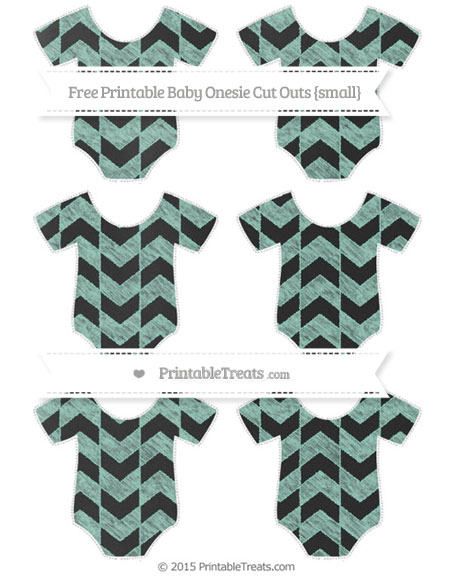 Free Pastel Green Herringbone Pattern Chalk Style Small Baby Onesie Cut Outs