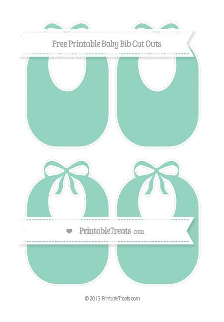 Free Pastel Green Medium Baby Bib Cut Outs