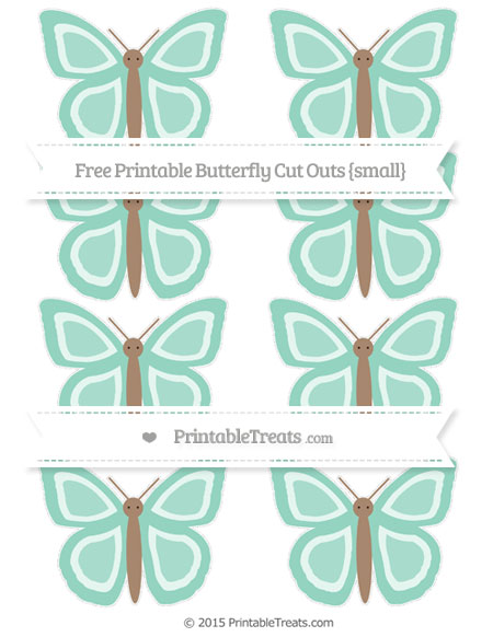 Free Pastel Green Small Butterfly Cut Outs