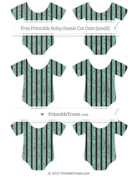 Free Pastel Green Thin Striped Pattern Chalk Style Small Baby Onesie Cut Outs