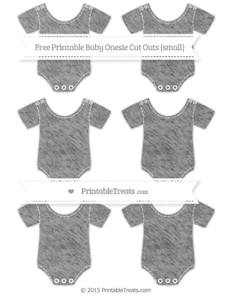 Free Pastel Grey Chalk Style Small Baby Onesie Cut Outs