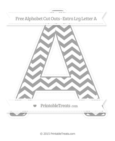 Free Pastel Grey Chevron Extra Large Capital Letter A Cut Outs