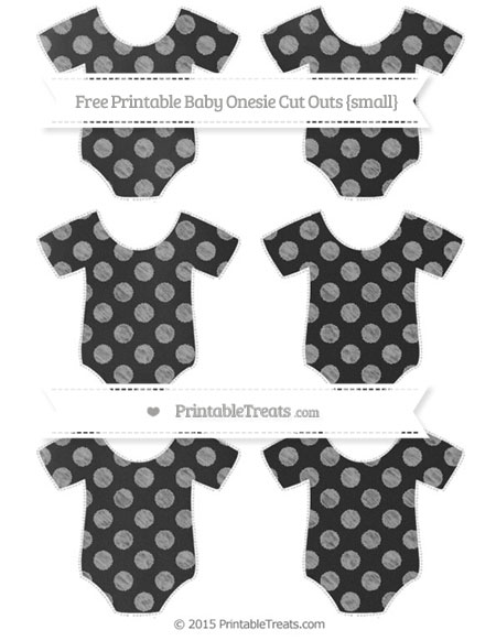 Free Pastel Grey Dotted Pattern Chalk Style Small Baby Onesie Cut Outs