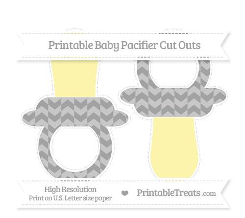 Free Pastel Grey Herringbone Pattern Large Baby Pacifier Cut Outs