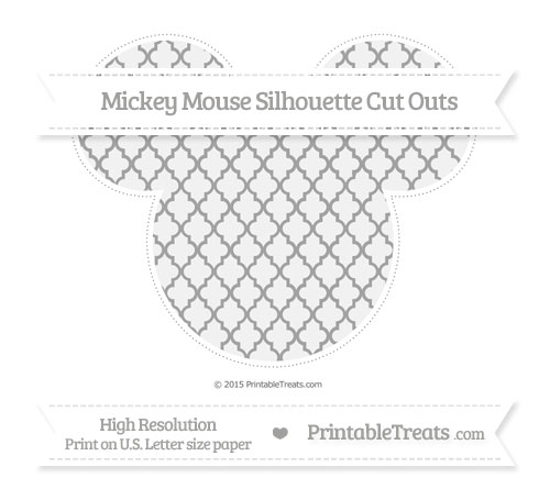 Free Pastel Grey Moroccan Tile Extra Large Mickey Mouse Silhouette Cut Outs