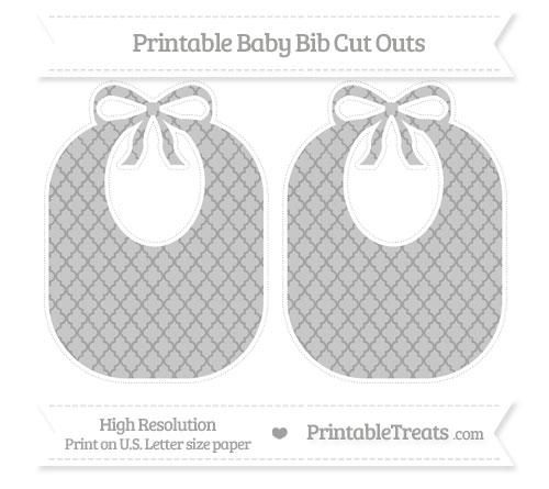 Free Pastel Grey Moroccan Tile Large Baby Bib Cut Outs