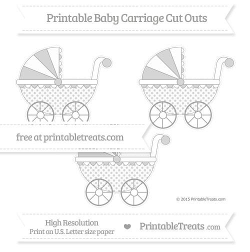 Free Pastel Grey Polka Dot Medium Baby Carriage Cut Outs