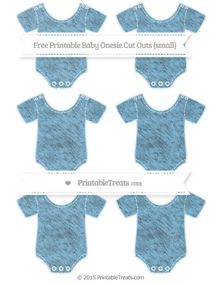 Free Pastel Light Blue Chalk Style Small Baby Onesie Cut Outs
