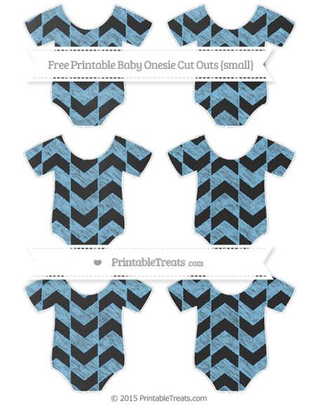 Free Pastel Light Blue Herringbone Pattern Chalk Style Small Baby Onesie Cut Outs