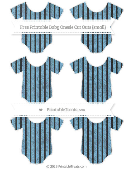 Free Pastel Light Blue Thin Striped Pattern Chalk Style Small Baby Onesie Cut Outs