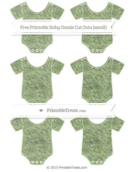Free Pastel Light Green Chalk Style Small Baby Onesie Cut Outs