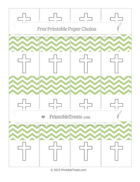 Free Pastel Light Green Chevron Cross Paper Chains