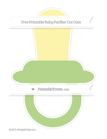 Free Pastel Light Green Extra Large Baby Pacifier Cut Outs