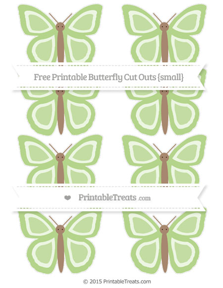 Free Pastel Light Green Small Butterfly Cut Outs