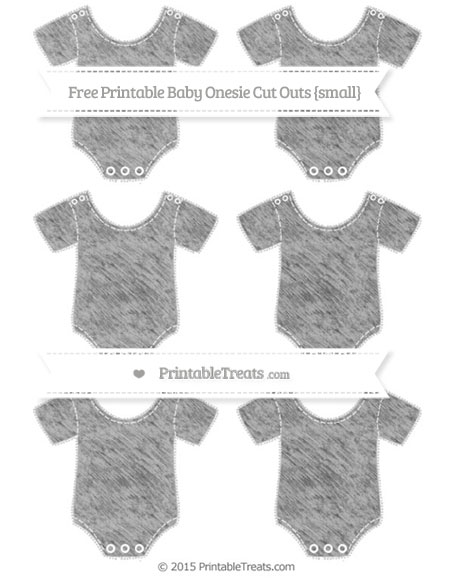 Free Pastel Light Grey Chalk Style Small Baby Onesie Cut Outs