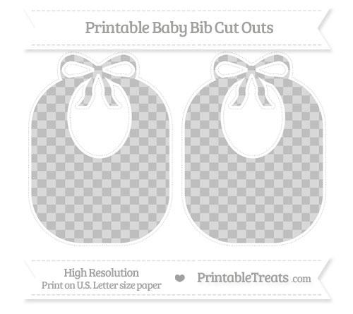 Free Pastel Light Grey Checker Pattern Large Baby Bib Cut Outs