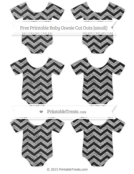 Free Pastel Light Grey Chevron Chalk Style Small Baby Onesie Cut Outs