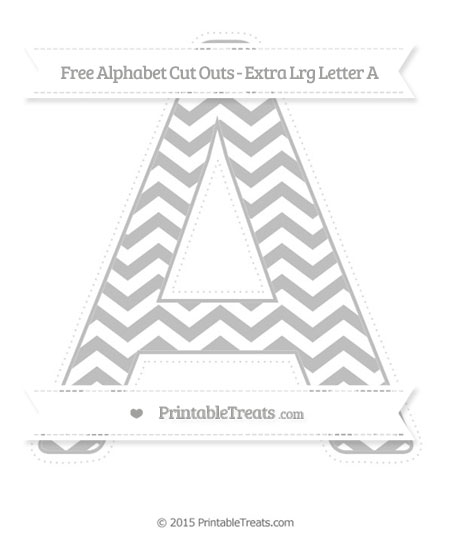 Free Pastel Light Grey Chevron Extra Large Capital Letter A Cut Outs