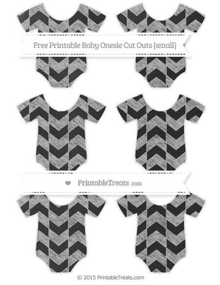 Free Pastel Light Grey Herringbone Pattern Chalk Style Small Baby Onesie Cut Outs