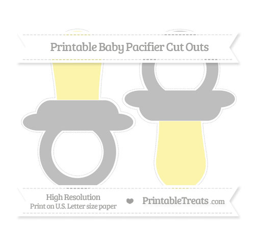 Free Pastel Light Grey Large Baby Pacifier Cut Outs