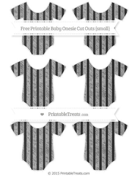 Free Pastel Light Grey Striped Chalk Style Small Baby Onesie Cut Outs