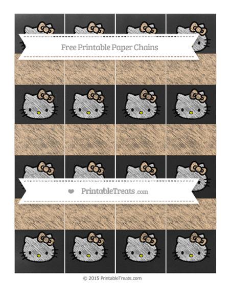 Free Pastel Light Orange Chalk Style Hello Kitty Paper Chains
