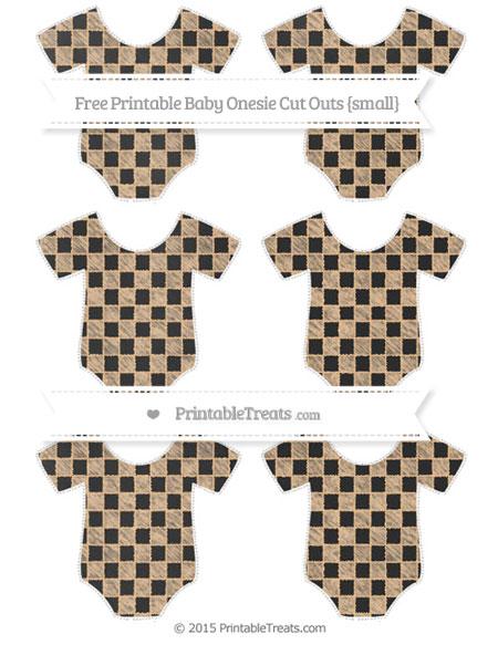 Free Pastel Light Orange Checker Pattern Chalk Style Small Baby Onesie Cut Outs