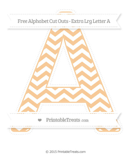 Free Pastel Light Orange Chevron Extra Large Capital Letter A Cut Outs