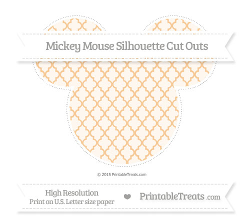 Free Pastel Light Orange Moroccan Tile Extra Large Mickey Mouse Silhouette Cut Outs