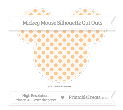 Free Pastel Light Orange Polka Dot Extra Large Mickey Mouse Silhouette Cut Outs